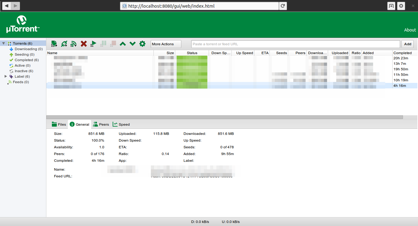 Utorrent server on Ubuntu 14.04